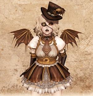 Gezeichnetes Steampunk Mädchen