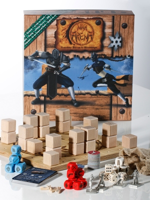 Box und Material von Ninja Arena