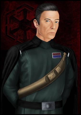 Generel Lee - imperialer Anführer, Nemesis meiner Star Wars-Runde - Ein streng blickender Mann in imperialer Uniform