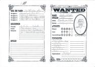 Jack O'Doll - Charaktbogen von Western City - zeigt Spielwerte und ein Portrait von einem Revolverhelden