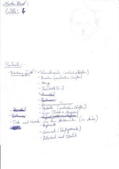 Wilde Notizen für eine Freeformrunde - eine Skizze zeigt einen gnomartigen Kleinwüchsigen