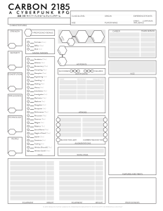 Carbon 2185 Charakterbogen Seite 1