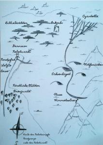 Selbstgezeichnete Umgebungskarte der Garnision Nebelwacht